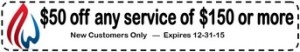 $50 off new customers for HVAC Services